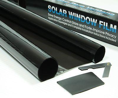 """9/'10/"""" x 2/'6 SUPER DARK BLACK 5/% CAR WINDOW TINT ROLL 3M x 75CM FILM TINTING"""