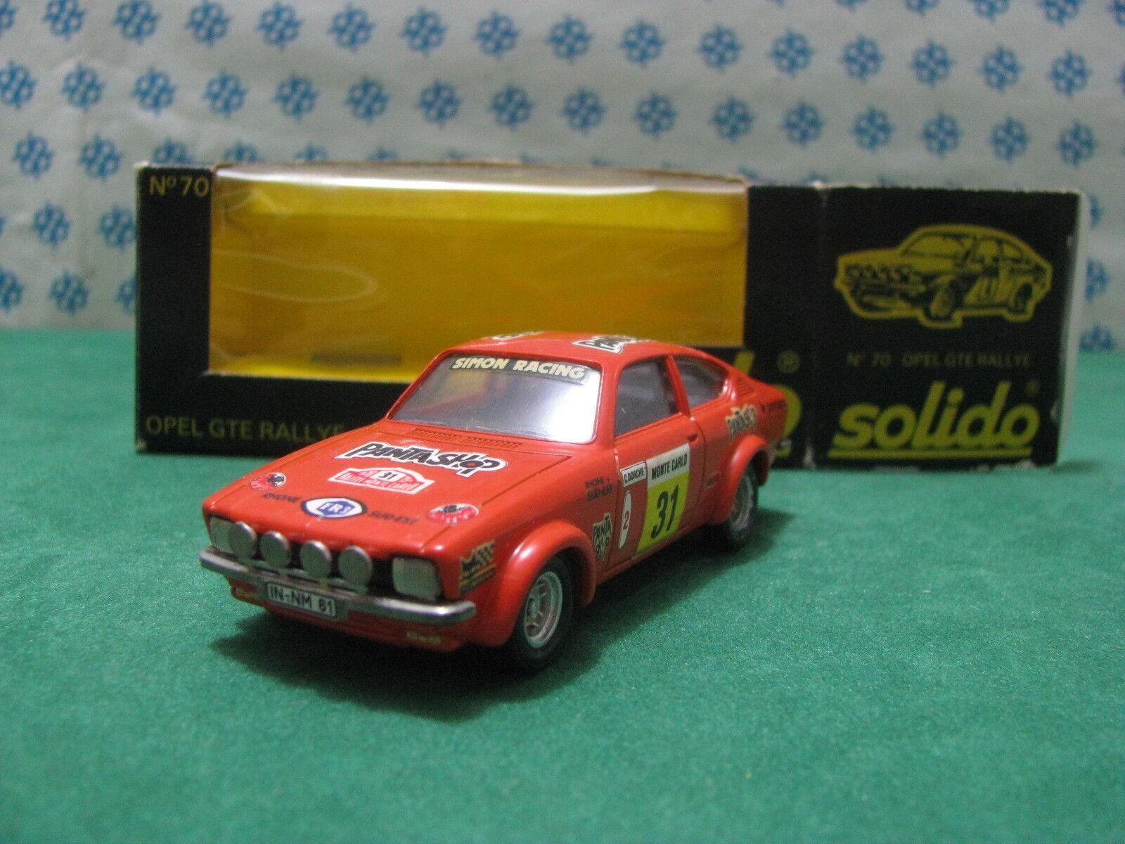 Vintage - OPEL GTE 2700cc. coupè  Rally Montecarlo    - 1 43 Solido n°70