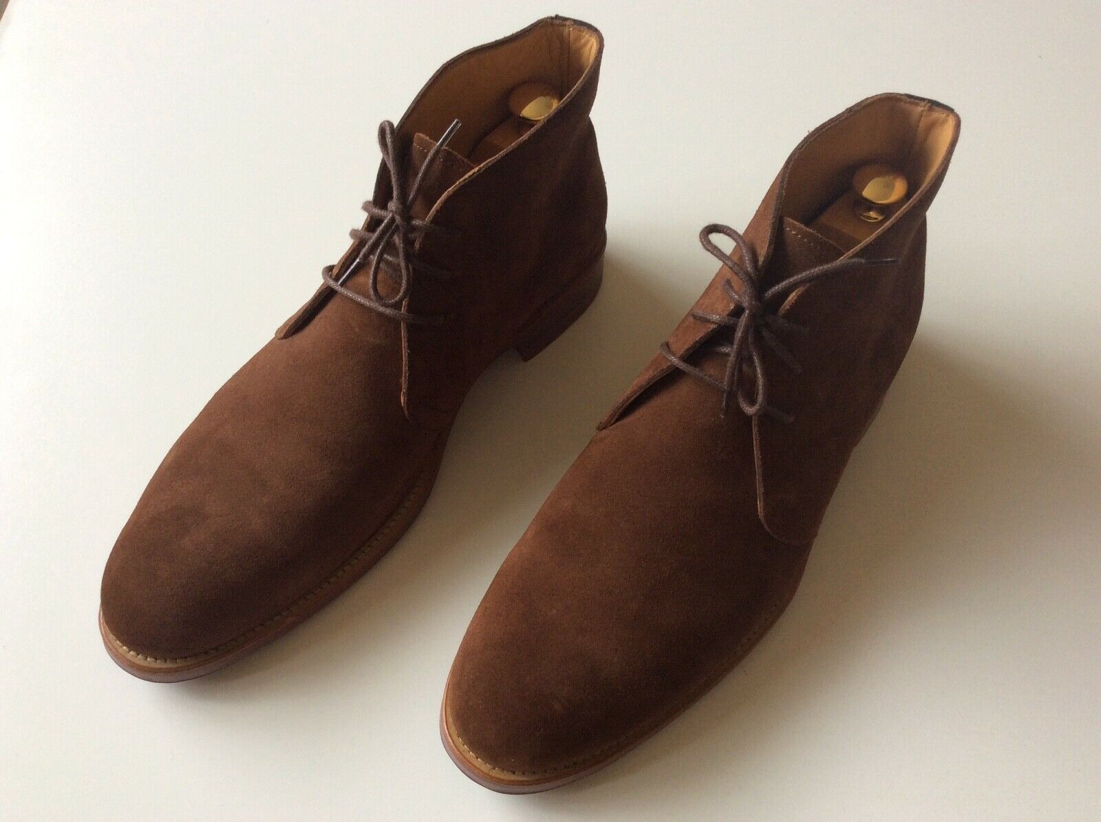 FINSBURY STEED brown suede boots size US 11 FR 44