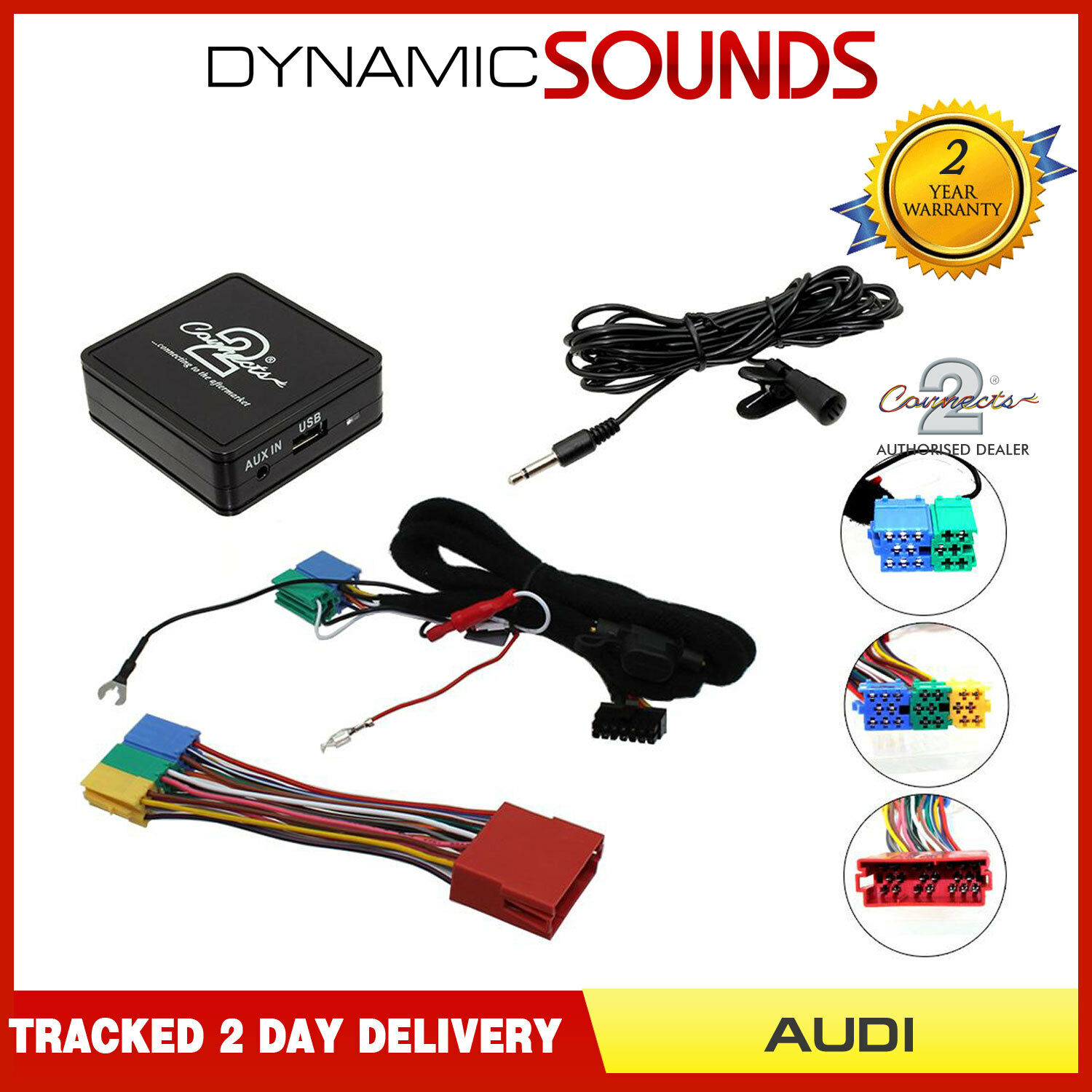 Audi A2 A3 A4 TT Bluetooth music streaming handsfree car kit AUX USB MP3  iPhone