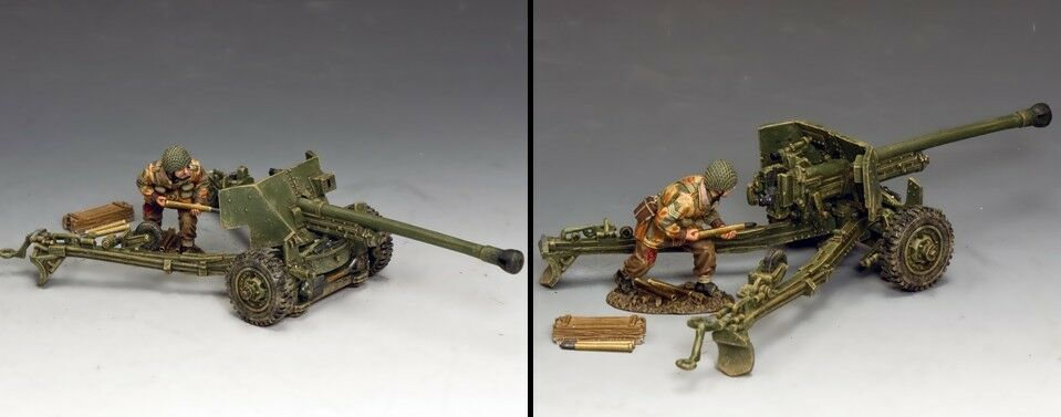KING AND COUNTRY L Sgt. John Baskeyfield V.C. and his 6 pdr. Anti Tank Gun MG074