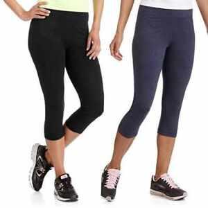 f7af1b1142e030 Danskin Now Women's Active Core Dri-more Athletic Capri Leggings ...