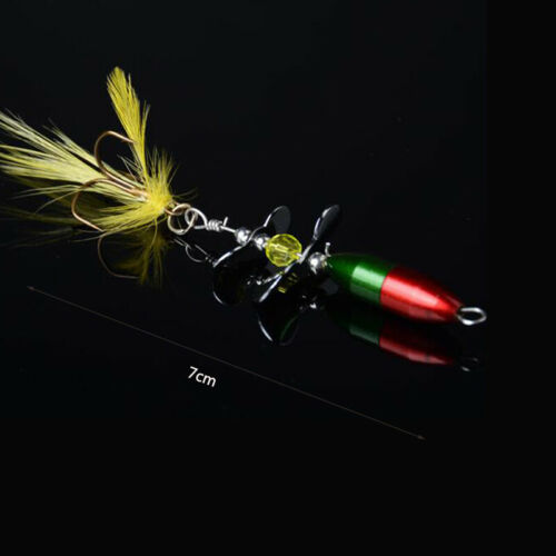 2X Long Casting Spinner Bait Fishing Lure Double Tail Propeller Trout Carp C7X6
