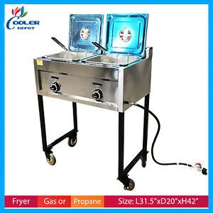 Deep Fryer Propane/gas OUTDOOR Fryer Stainless Portable