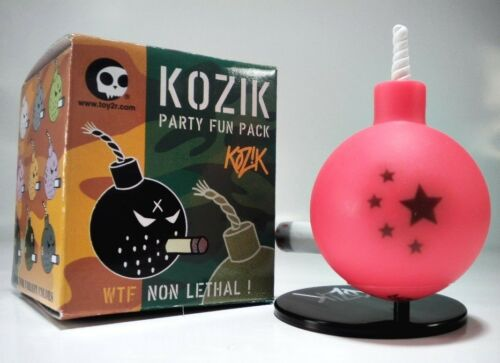 """CHINESE RED Bomb 1.5/"""" mini vinyl figure w// Stand  Kozik WTF Party Fun Pack Toy2R"""