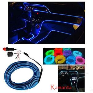 Blue EL Wire Car Interior Light Ambient Neon light For Maruti Suzuki - 5 Meter
