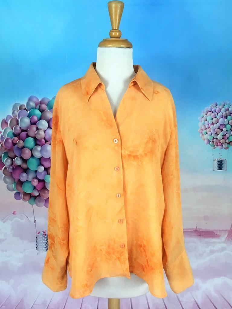 Milano Woman US Size 1X orange Tie Dye Blouse