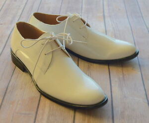 NICE-ITALIAN-STYLE-MENS-DRESS-CASUAL-SHOES-COLOR-WHITE-EXCELLENT-QUALITY