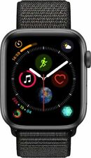 #cybersale New Apple Watch Series 4 44mm Space Gray Alum Black Loop Agsbeagle