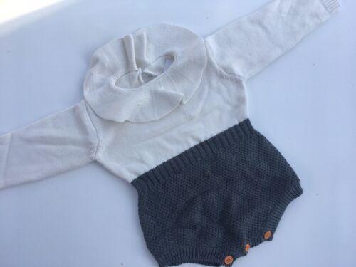Knitted winter romper playsuit baby wondersuit christmas