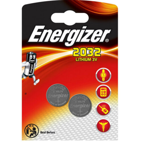 2 Energizer 2032 De Litio 3v Pilas Cr2032 Dl2032