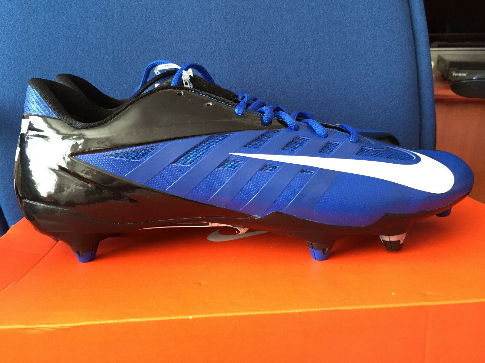 Nike Vapor Pro Low D NFL 511342-411 Blue Black NY Giants Football Cleats Price reduction  Special limited time