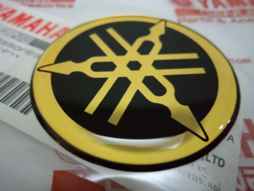 4 x YAMAHA 3D GEL DOME DECAL GOLD 45MM DIAMETER