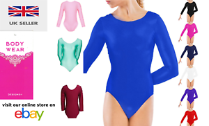 Nylon Girl/'s Long Sleeve Leotard Bodysuits