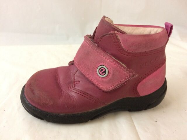Ecco Girls 6.5 Toddler Boots Casual Pink Leather Shoes ...