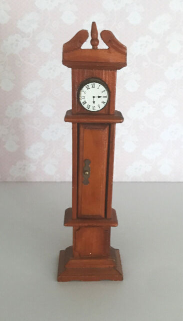 Dolls House Miniature Furniture 1.12 Scale Grandfather Clock