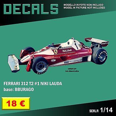 DECALS repro Ferrari 312 T2 #1 Jody Scheckter Bburago Burago 1//14 1 14 F1 decal