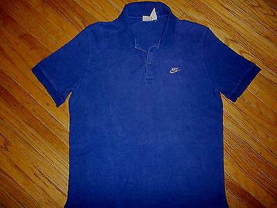 Ehrlich Vtg Nike Blau Polohemd Bestickt Rauschen Logo Grau Etiketten 80er Jahre 90er Up-To-Date-Styling