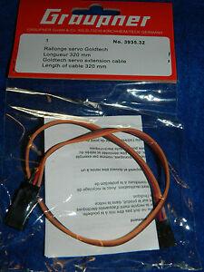 GRAUPNER-3935-32-cable-de-RALLONGE-servo-GOLDTECH-extension-VERLANGERUNGSKABEL