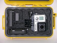 New Pelican 1040 Yellow case fits GoPro Hero 5 4 3+ Black Ed Free nameplate