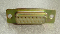 Lot Of 2 Da-15s-v Female Db15 D-sub 15 Pin Gold Plated Connector