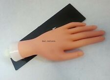 Soft Rubber Practice HAND, great for Acrylic Gel Wrap manicure Practice / nails