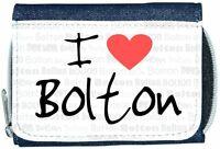 I Love Heart Bolton Denim Wallet