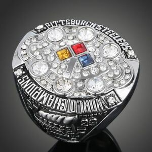 Men-039-s-Sport-Ring-2008-Pittsburgh-Steelers-Championship-Ring-Sport-Fans-Gift
