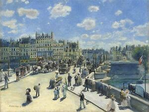 AUGUSTE-RENOIR-FRENCH-PONT-NEUF-PARIS-OLD-ART-PAINTING-POSTER-PRINT-BB4901A
