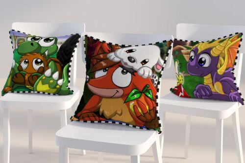 Juego De Video Gamer Dragon Cocodrilo Bandicoot Nostalgia Gamer cojines versión 2 16x16
