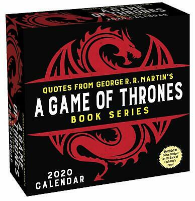 BOOK QUOTES BRAND NEW 2020 DAILY DESK CALENDAR GAME OF THRONES 498405