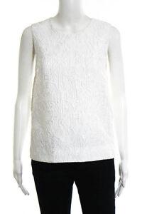 Mary-Katrantzou-White-Abstract-Detail-Sleeveless-Blouse-Size-6-1140-New-111070