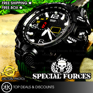 AUTHENTIC-SMAEL-Sports-Watch-Digital-Led-Water-Resistant-Watches-Military-SF01
