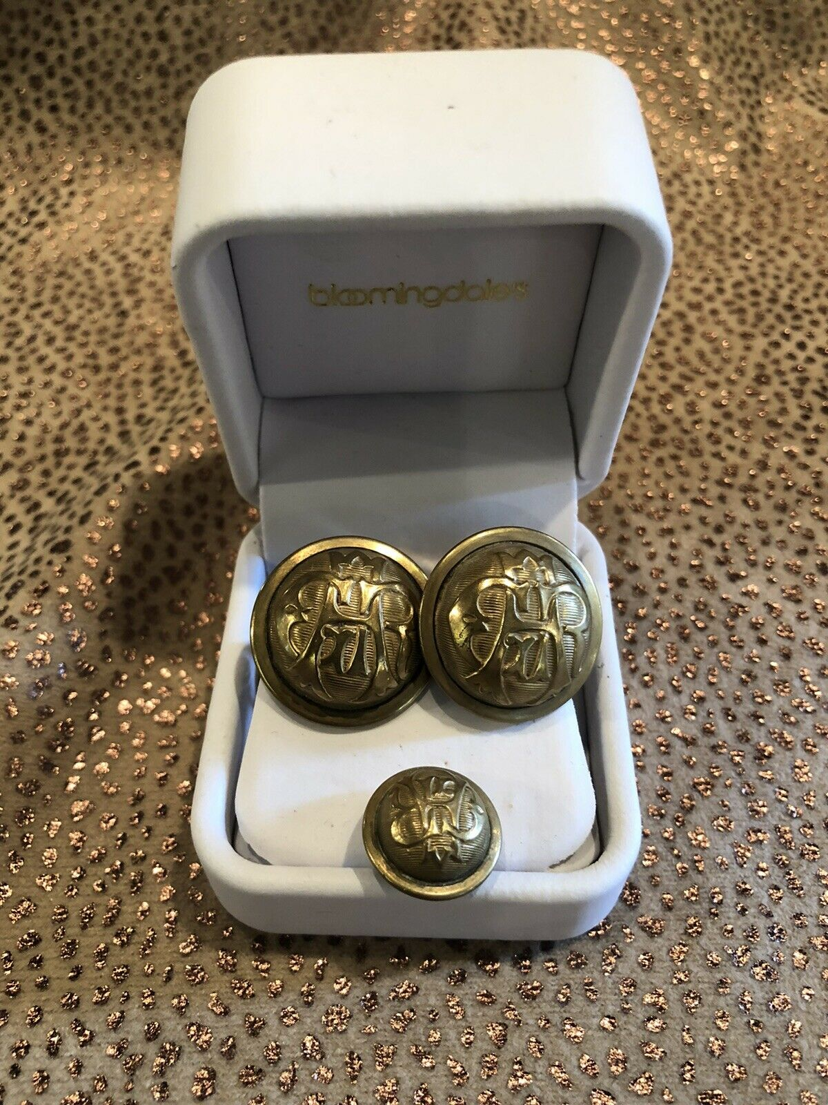 Antique Civil War Grand Army of the Republic Buttons as Cufflinks & Tie Tack