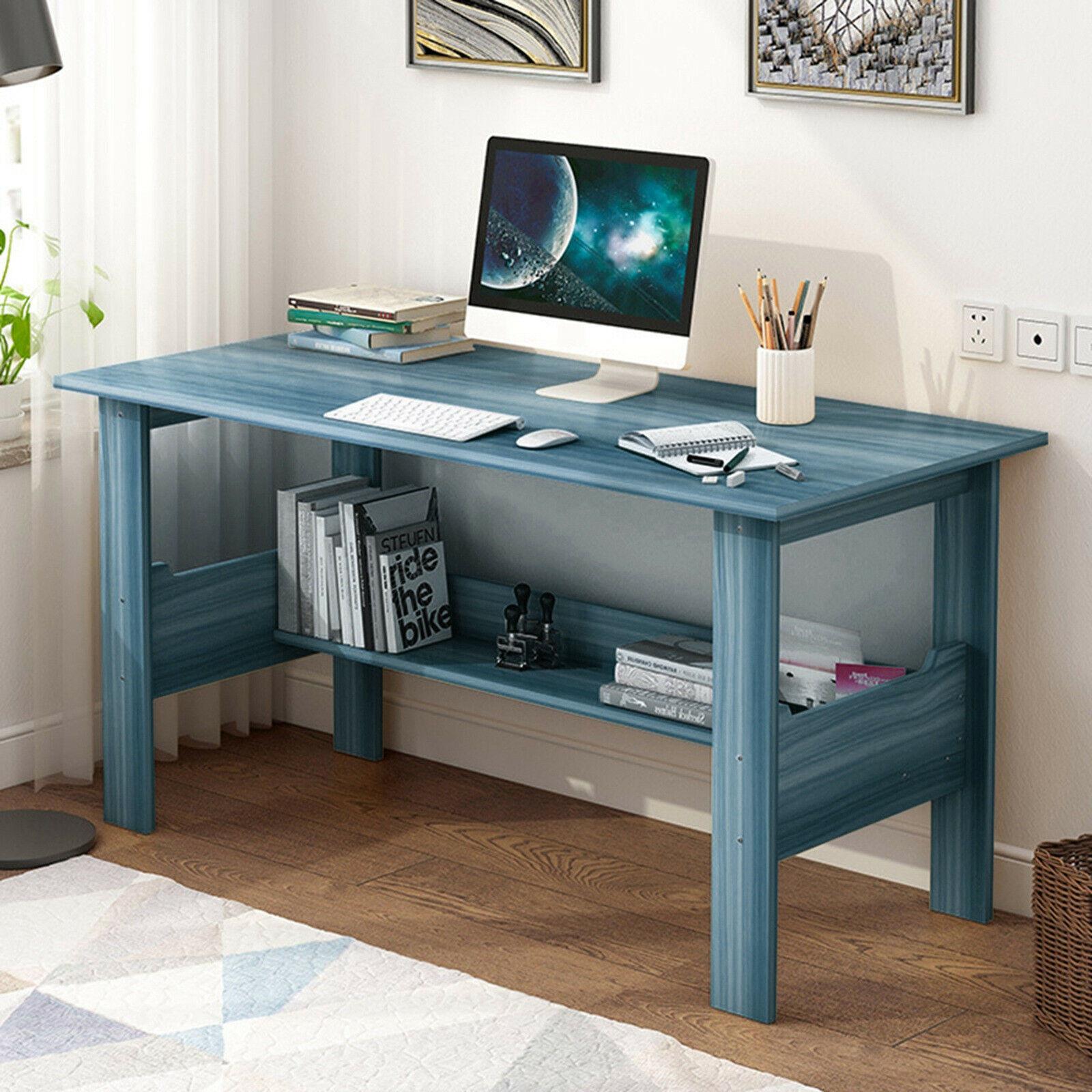 Ikea Linnmon Adils Table Desk Computer Workstation White Blue 39 For Sale Online Ebay