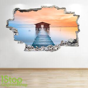 Lago Banchina Adesivo Da Parete 3d Look Salotto Camera Da Letto Ebay