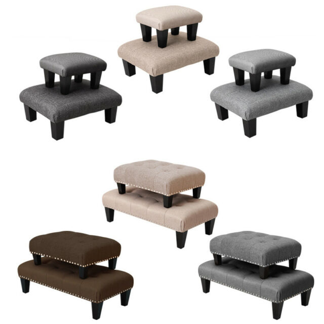 Magnificent Fabric Upholstered Bed Bench Shoe Stool Footrest Footstools Bench Dressing Bench Dailytribune Chair Design For Home Dailytribuneorg
