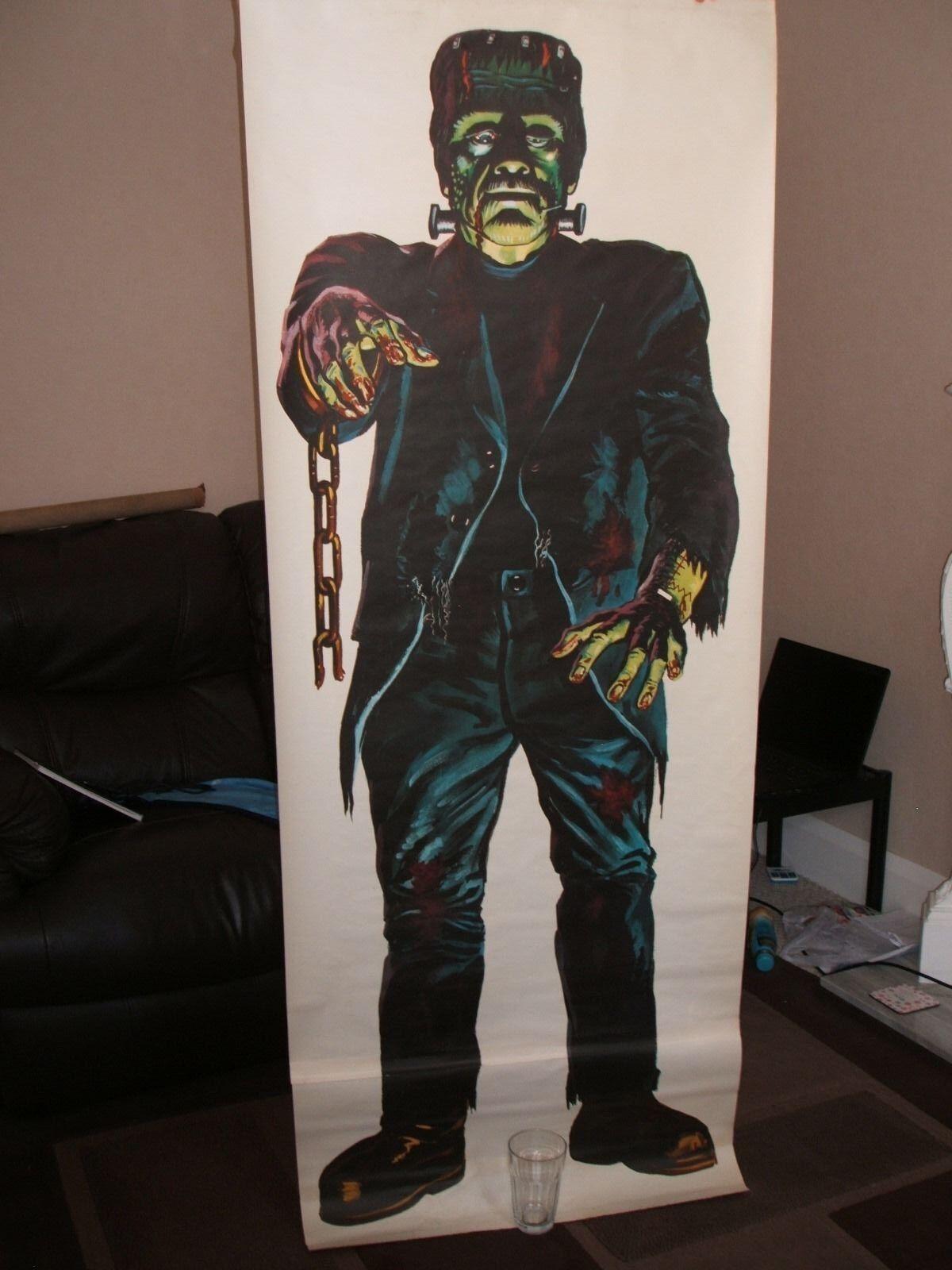 Frankenstein Porte Affiche années 1960 original avec vintage toys jamais Affiche
