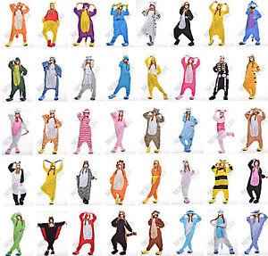 fb99db052a La imagen se está cargando Vellon-Kigurumi-Pijama-animales -de-dibujos-animados-Cosplay-
