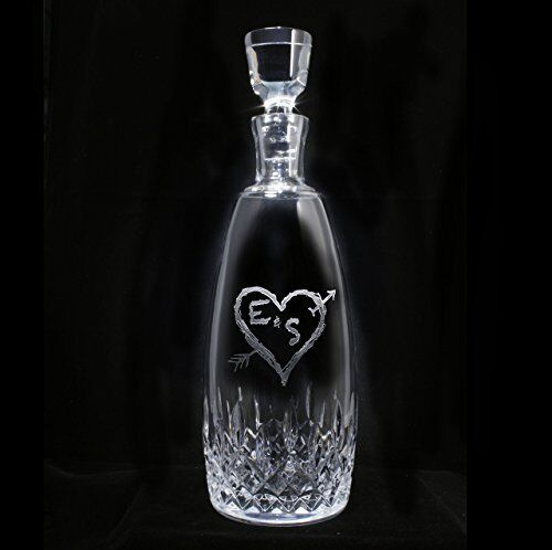Waterford Crystal Wine, Whiskey, Bourbon, Scotch Decanter Engraved