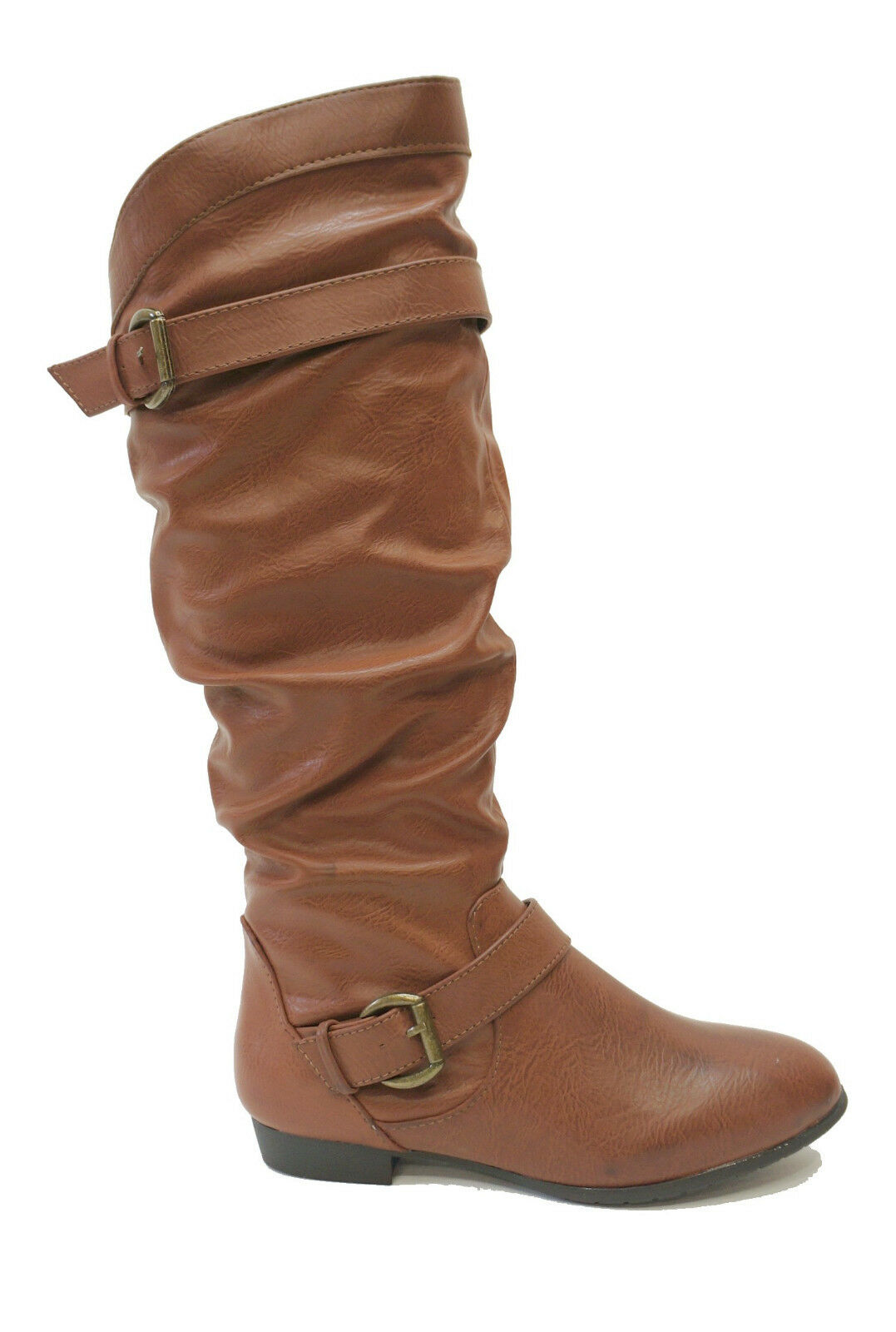 New! Rampage Brown Knee High Flat Tall Boots BASKING Women's Shoes US 6