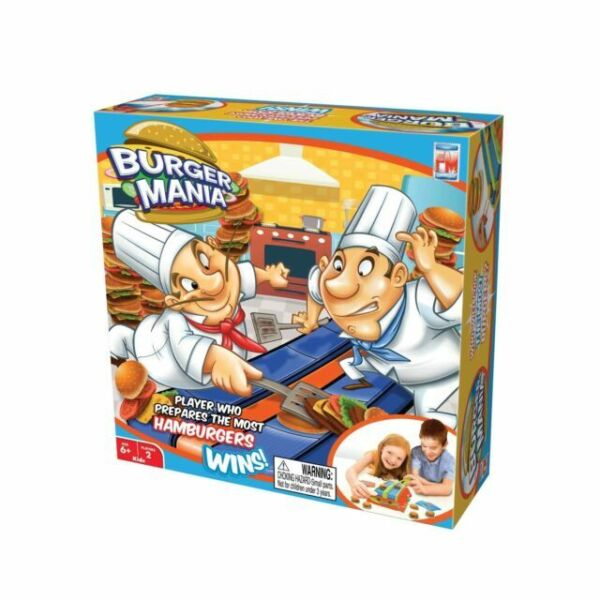 Burger Mania Game Two Players Race To Build Burger Recipe Card Cooking Food Game