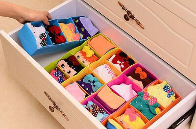 Plastic Organizer Storage Box for  Bra Socks Drawer Desktop Cosmetic Divider SH