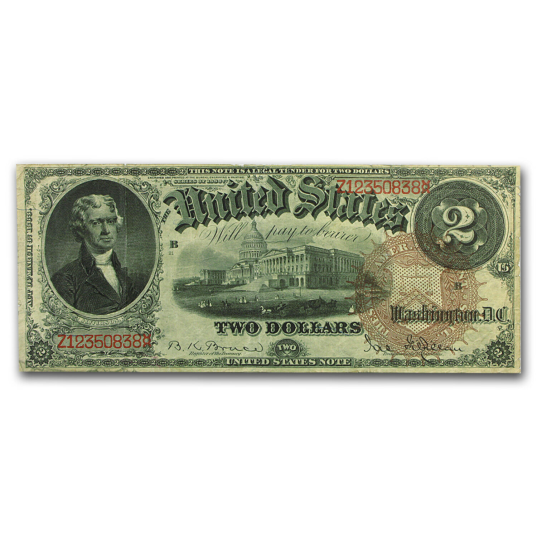 1880 $2.00 Legal Tender Jefferson VF - SKU#94984 1
