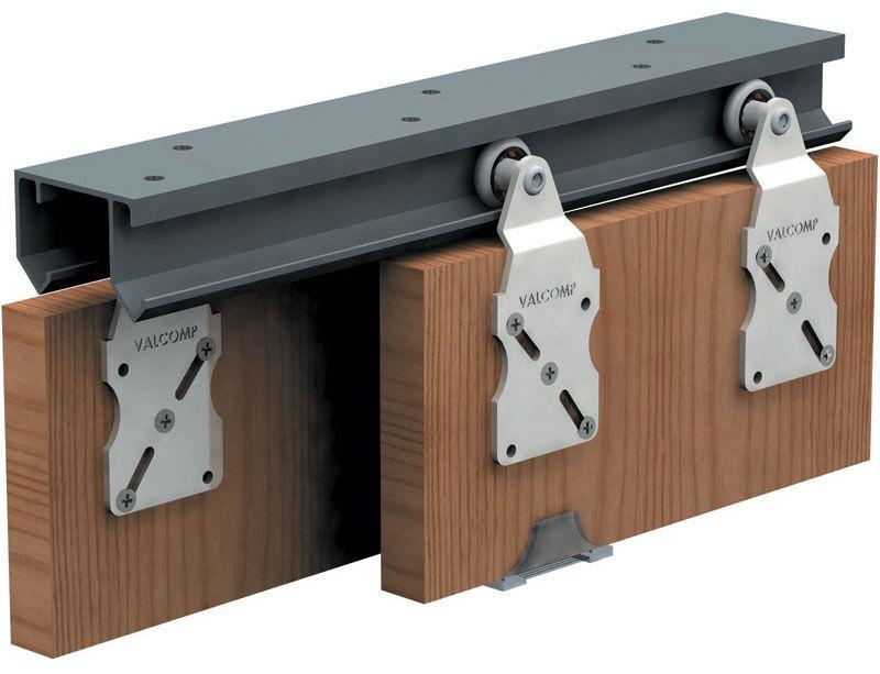 Wardrobe Double Top Hung Sliding Door Gear 45kg 2400mm Track Set For 4 Doors    EBay