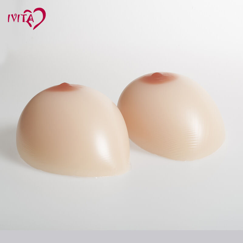 IVITA 1600g Artificial Fake Breast Forms Crossdresser Fake Boobs EE Cup gifts