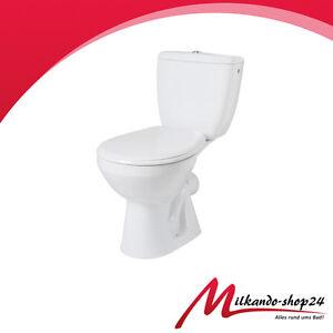 wc toilette stand komplett set mit sp lkasten und deckel keramik stand wc wei ebay. Black Bedroom Furniture Sets. Home Design Ideas