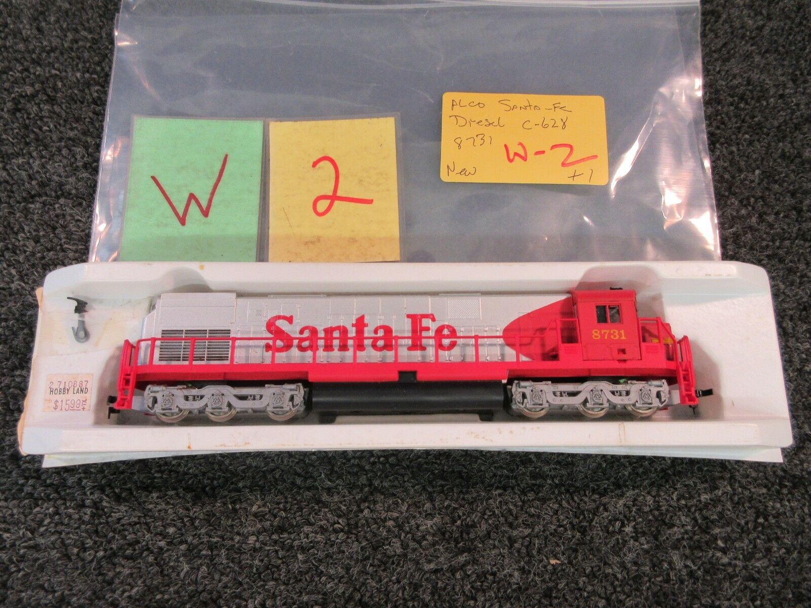 Alco Century 8731 Electric Train Engine Locomotive C628 Santa Fe Diesel Ho Scale For Sale Online