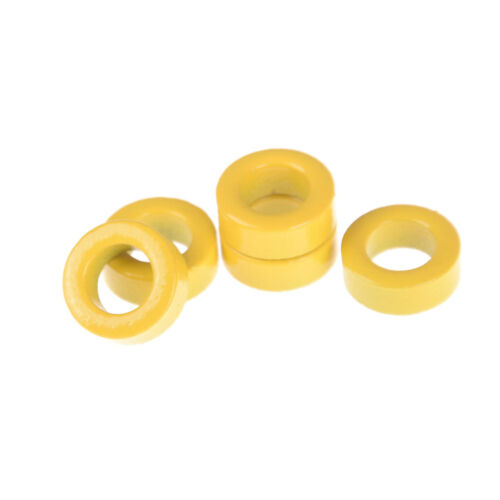 5Pcs Yellow Micrometals T50-6 Iron Powder Toroidal Core RF Toroid RXHRXH
