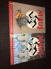 Maus: A Survivor's Tale by Art Spiegelman Paperback Book (English) Lot Bundle